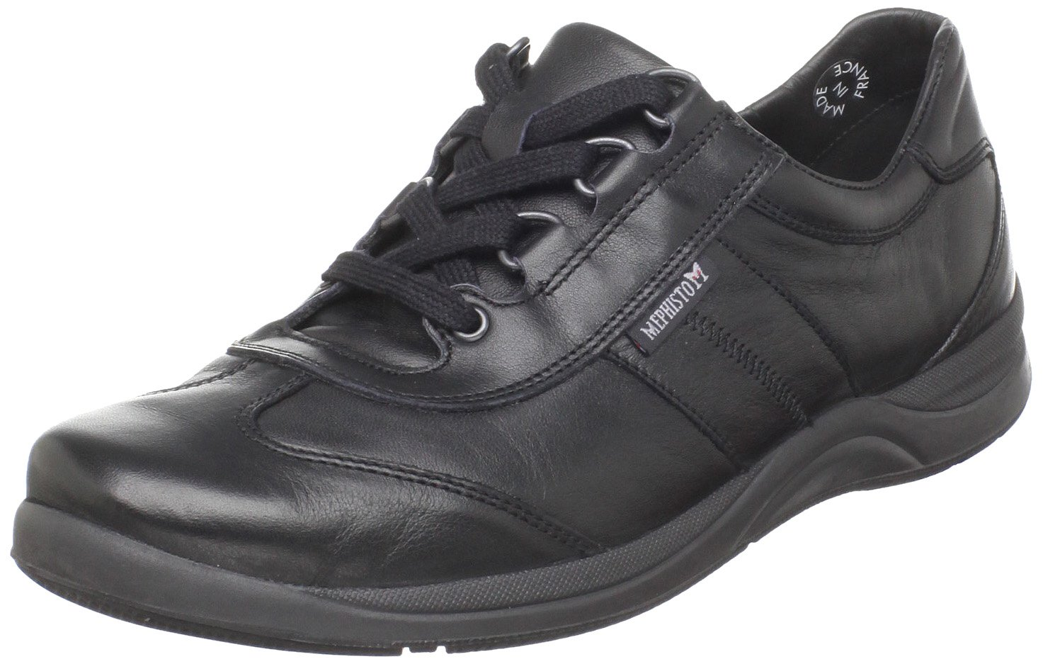 Mephisto Womens Laser Softy Leather Shoes 38 EU|Black