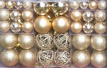 100 weihnachtskugel creme champagner mit 100 metallhaken anhnger christbaumschmuck weihnachten - Christbaumschmuck 2015