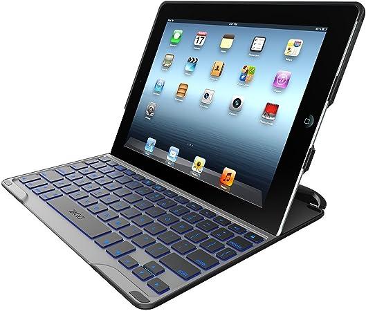 Zagg ProPlus - Funda para Apple iPad 2 (Incluye Teclado QWERTY Inglés, función Soporte), Negro