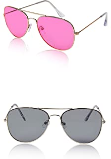a5870e52b79d Sunny Pro Aviator Sunglasses Colored Tinted Lens Glasses Metal UV400  Protection