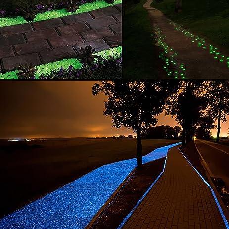 Amazon.com : NABLUE Decorative Gravel Garden, Glow in the Dark ...