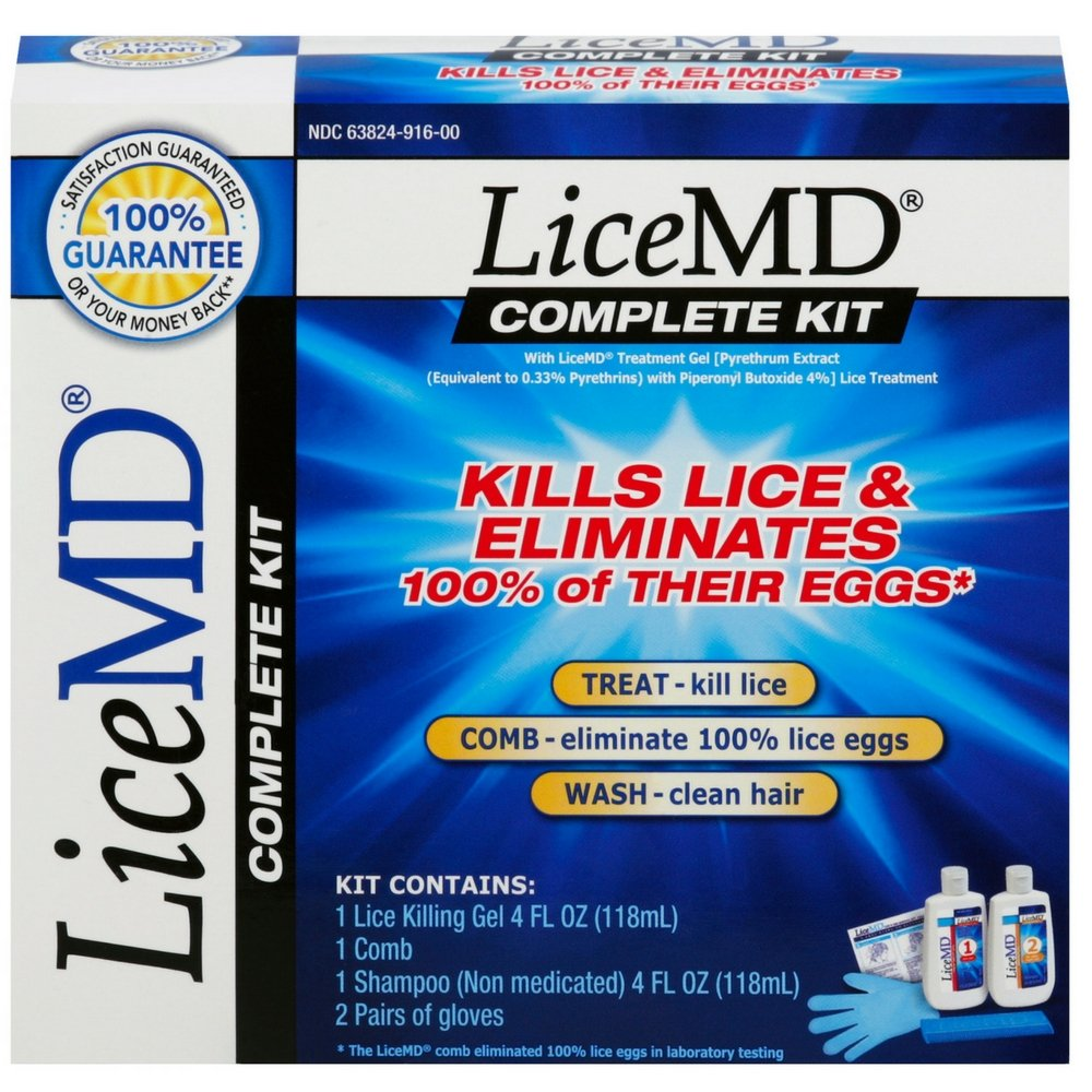 LiceMD Lice and Egg Removal Complete Kit, 2 ct(Pack of 7) by LiceMD