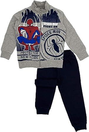 Bambino SUN CITY Marvel Avengers Spiderman Autunno Inverno Tuta Sportiva da Ginnastica Jogging Felpata