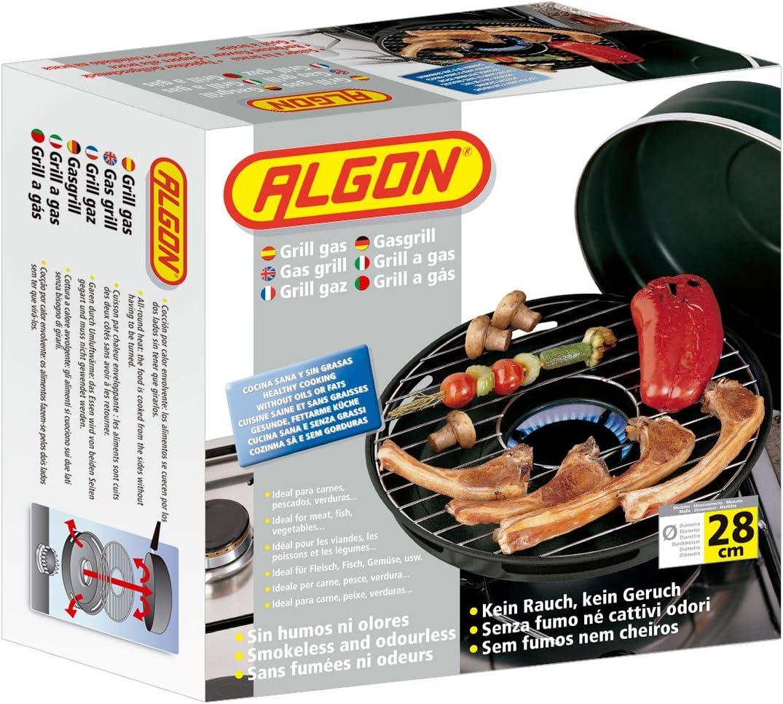 Algon Grill, Acero, 32 cm: Amazon.es: Hogar