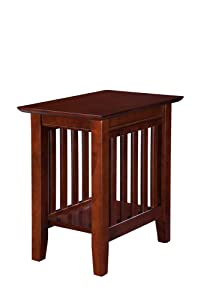 Atlantic Furniture AH13204 Mission Chair Side Table, Walnut