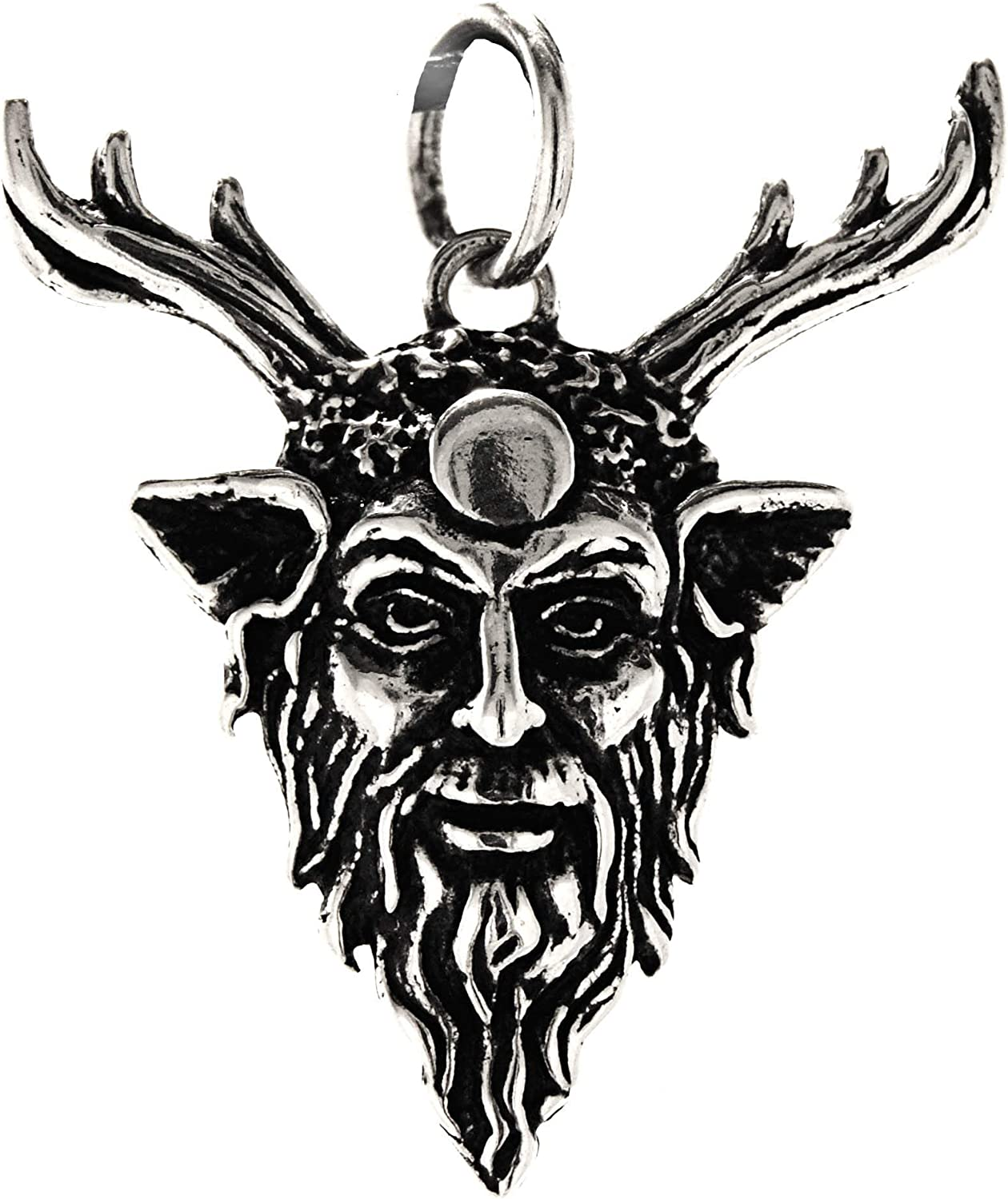N/° 360 Kiss of Leather Pendentif Cernunnos en Argent 925