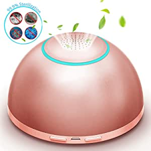Mini Ozone Generator Air Purifier Cleaner Machine, USB Portable Odor Eliminator Sterilizer with Night Light for Home, Car, Travel, Refrigerator, Wardrobe,Pet House, Practical Gift