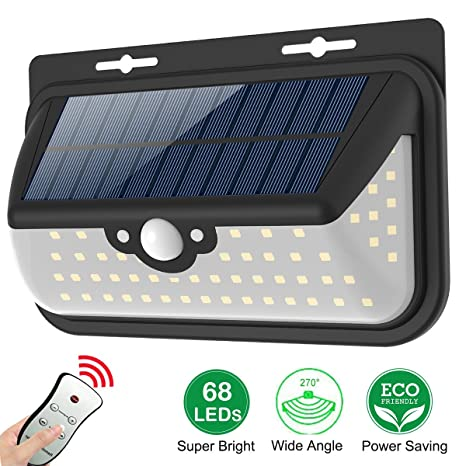 Solar motion sensor lights outdoor wall light waterproof wireless solar motion sensor lights outdoor wall light waterproof wireless security night light with remote control for aloadofball Image collections