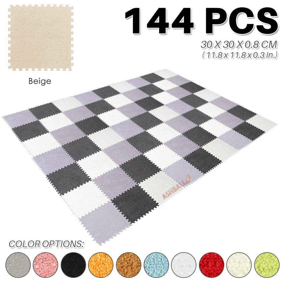 Ashball 1109AB 144 Stück BEIGE Schaumstoffmatte Puzzlematte Kinderspielteppich 30 X 30 X 0.8 cm