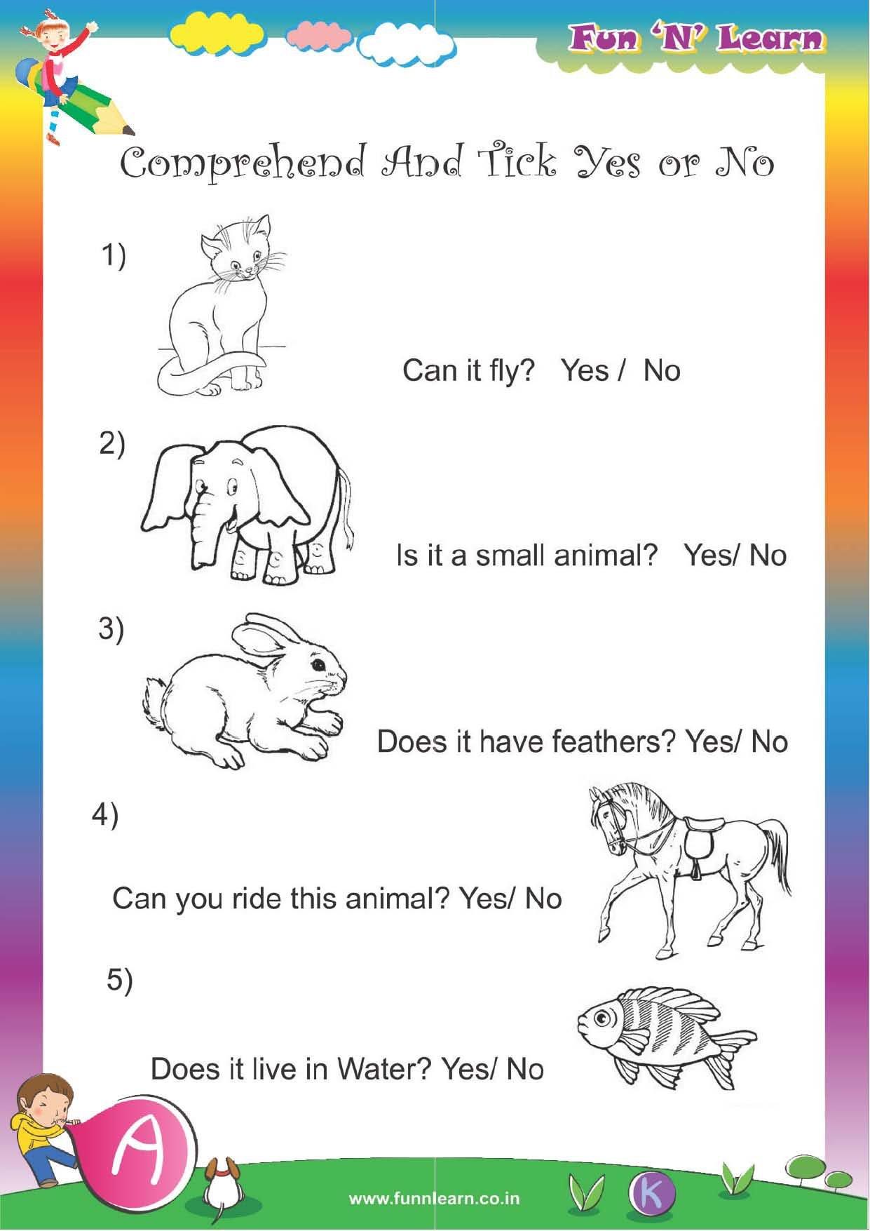 Buy Fun N Learn Worksheets - Grade Lkg / Jr. Kg (3 Months ...