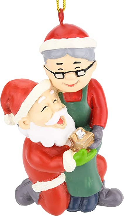 Tree Buddees I Do Mr Mrs Claus Proposal Wedding Christmas Ornaments Home Kitchen