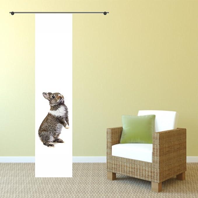 Nicht Nur f/ür Ostern gardinen-for-life Fl/ächenvorhang Rabbit Toller Hasen Schiebevorhang Gr.60x245 cm mit Druck-Motiv