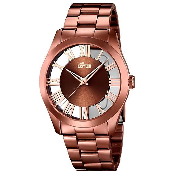 372e84ef64da Lotus Reloj Analógico para Mujer de Cuarzo con Correa en Acero Inoxidable  18125 1  Amazon.es  Relojes