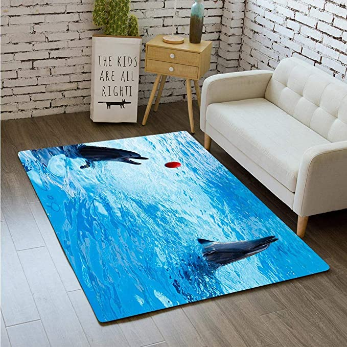 Amazon.com: MTSJTliangwan 3D Printing Two Dolphins Swim in ...