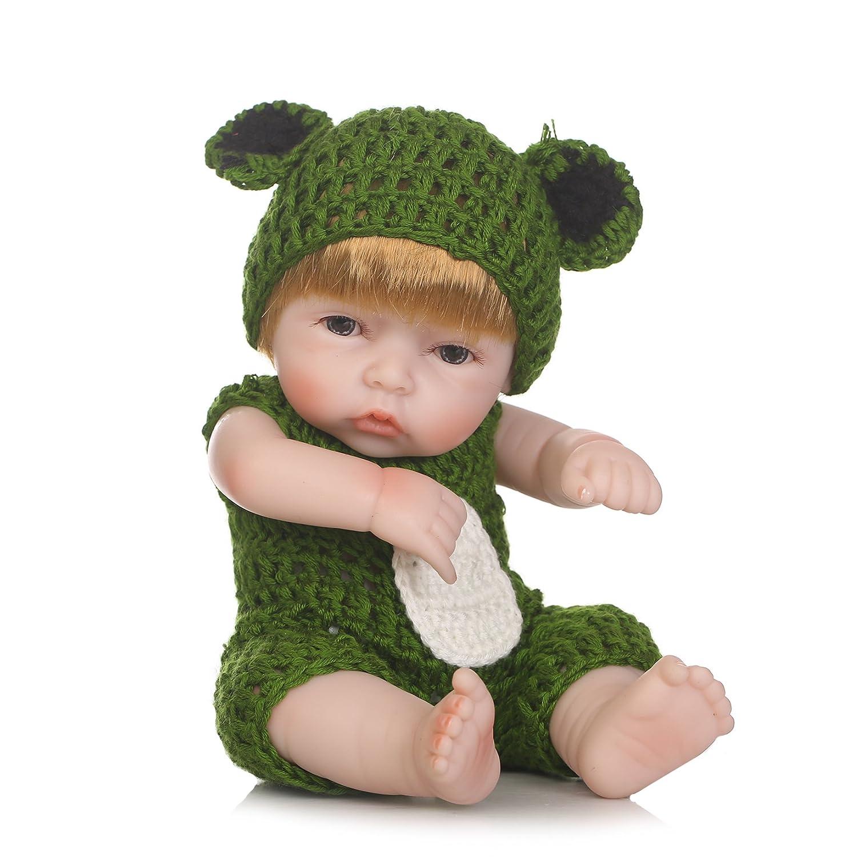 icradle 10インチ26 cm Reborn人形Aliveフルボディソフトビニールシリコンリアル赤ちゃん新生児Dolls解剖学的に正しいハンドメイドXmas誕生日ギフト RBB-10NPKAD007180 女の子(girl)  B07BDDJ492