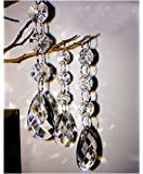 30PCS Teardrop Acrylic Crystal Beads Beads Garland Chandelier Hanging Wedding Party Decor