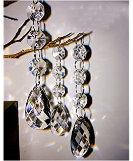 Amazon clear acrylic chandelier drops pkg of 112 30pcs teardrop acrylic crystal beads beads garland chandelier hanging wedding party decor mozeypictures Images