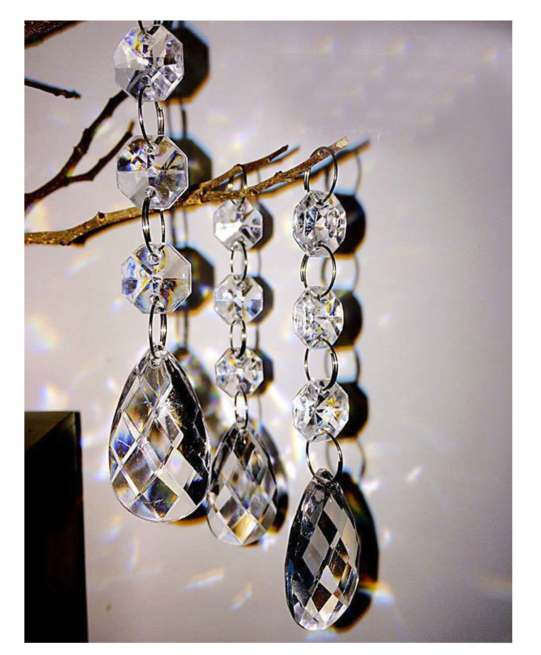 30PCS Teardrop Acrylic Crystal Beads Beads Garland Chandelier Hanging Wedding Party Decor tongtu 4336814831