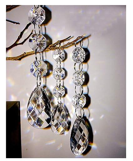 Amazoncom PCS Teardrop Acrylic Crystal Beads Beads Garland - Chandelier acrylic crystals