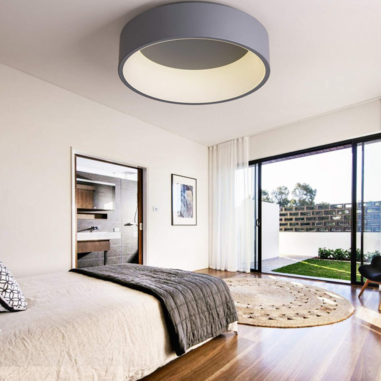 Amazon.com: Moderna lámpara LED de techo redonda de acrílico ...