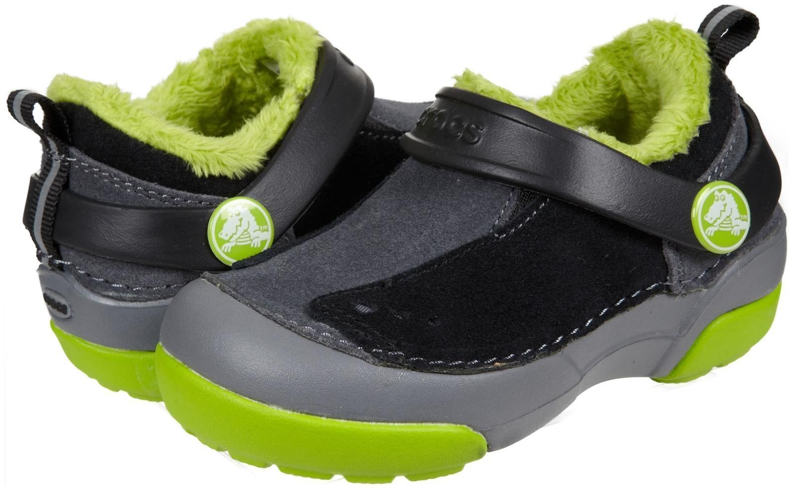 Crocs Kids Boy's Dawson Slip-on Lined Sneaker PS (Toddler/Little Kid) Charcoal/Black 9 Toddler M by Crocs