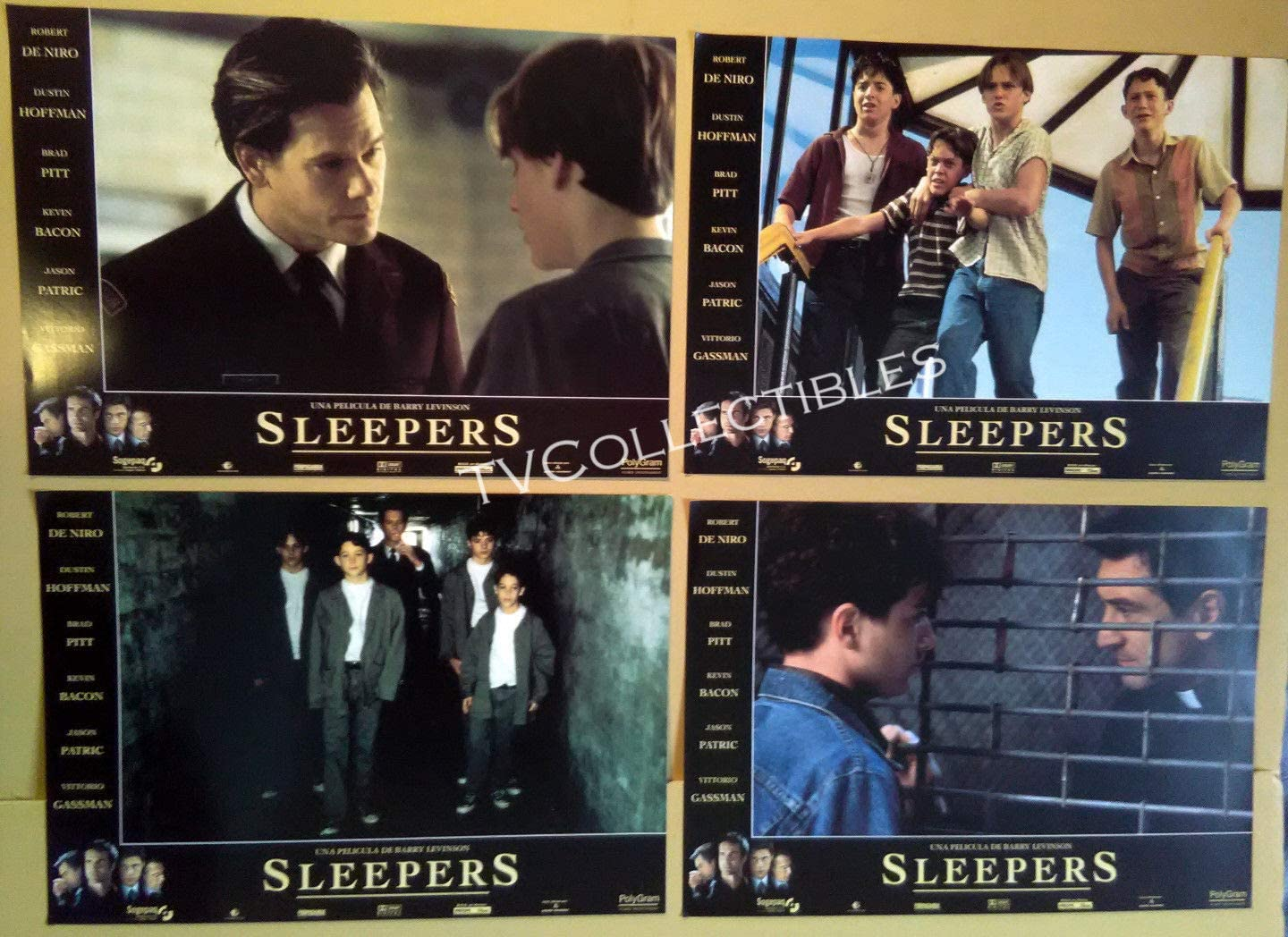 Amazon Com Lobby Card Lot Sleepers Kevin Bacon Brad Renfro Geoffrey Wigdor Joe Perrino Photographs