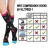 HLTPRO 20-30 mmHg Compression Socks Women - Mens