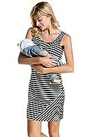 Women's Summer Striped Print Sleeveless Nursingwear Nursing Tank Dress