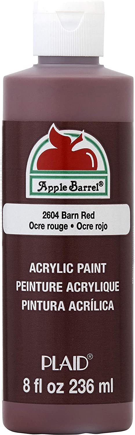 Apple Barrel Acrylic Paint in Assorted Colors (8 oz), K2604 Barn Red