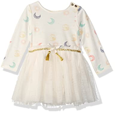 cf2609724eae Amazon.com: Jessica Simpson Baby Girls Skirted Bodysuit Dress, Eclipse Tile  Print 3-6 Months: Clothing