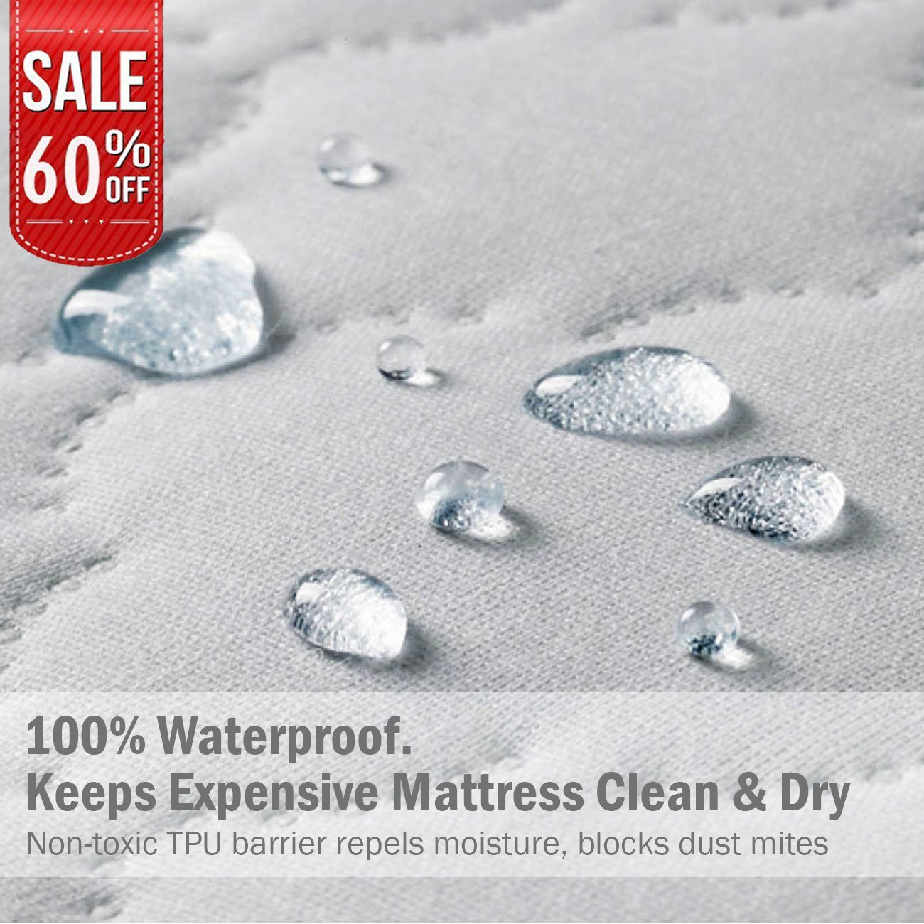 Linenwalas Reinforced Waterproof Mattress Protector – 100%Quiet, Hypoallergenic, Breathable,Cooling and Vinyl Free Premium Matress Protection Cover | Resistant from Dust Mite and Bed Bug (Split King)