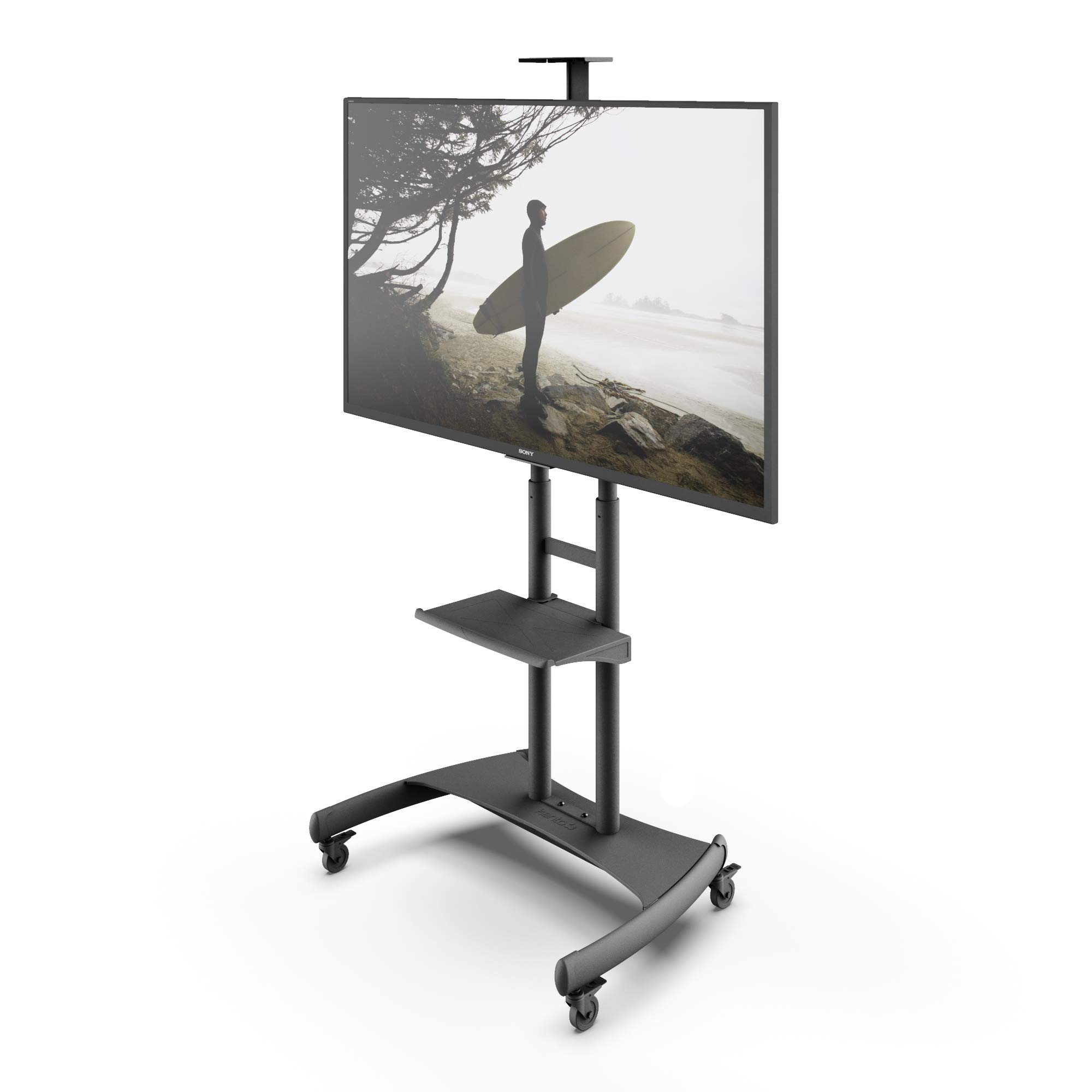 Kanto MTM82PL Height Adjustable Mobile TV Stand with Adjustable Shelf for 50-inch to 82-inch TVs by Kanto