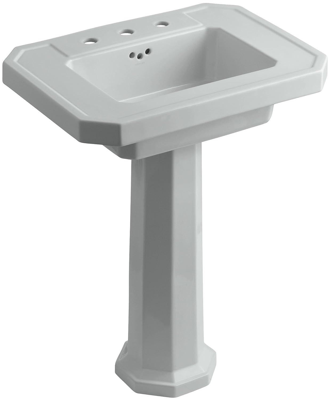 KOHLER K-2322-8-0 Kathryn Pedestal Bathroom Sink with 8\