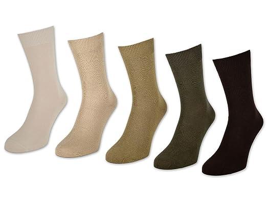 10 hasta 60 pares Calcetines para hombre 100% algodón sin costuras Business Hombre Calcetines Negro