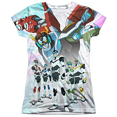 Amazon.com  Voltron  Legendary Defender Team Women s Sublimated T ... a81dac9fb0