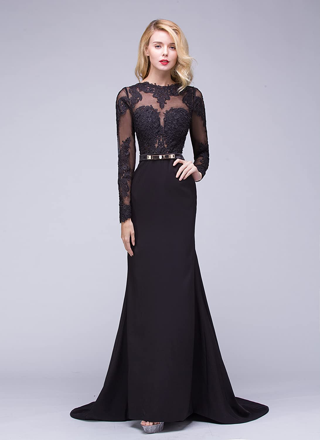 Ok Dress Long Sleeve Lace Mermaid Wedding Prom Dresses 2015 ...