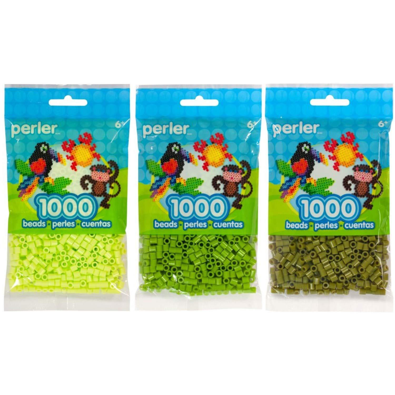 Canutillos Beads 3000 Unidades (pack X3) Tonos Verdes