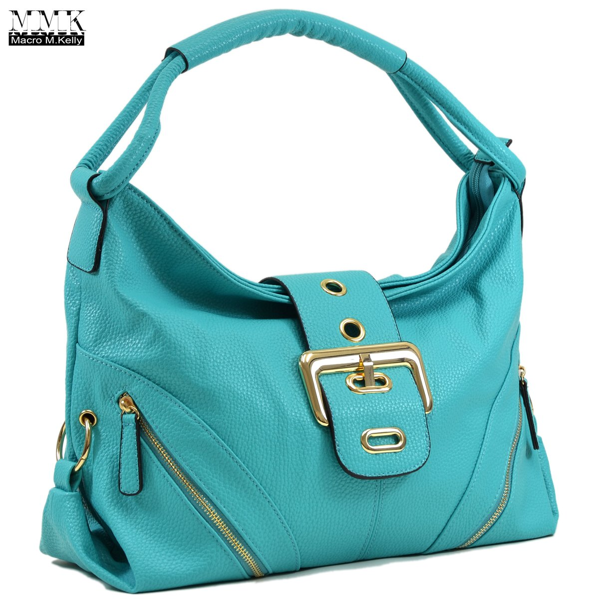 MMK collection Women Fashion Shoulder Backpack (6331)~Designer Purse Hobo bag for Women ~Multi Pocket Backpack~ Beautiful Designer Shoulder bag (02-8262-Turquoise)