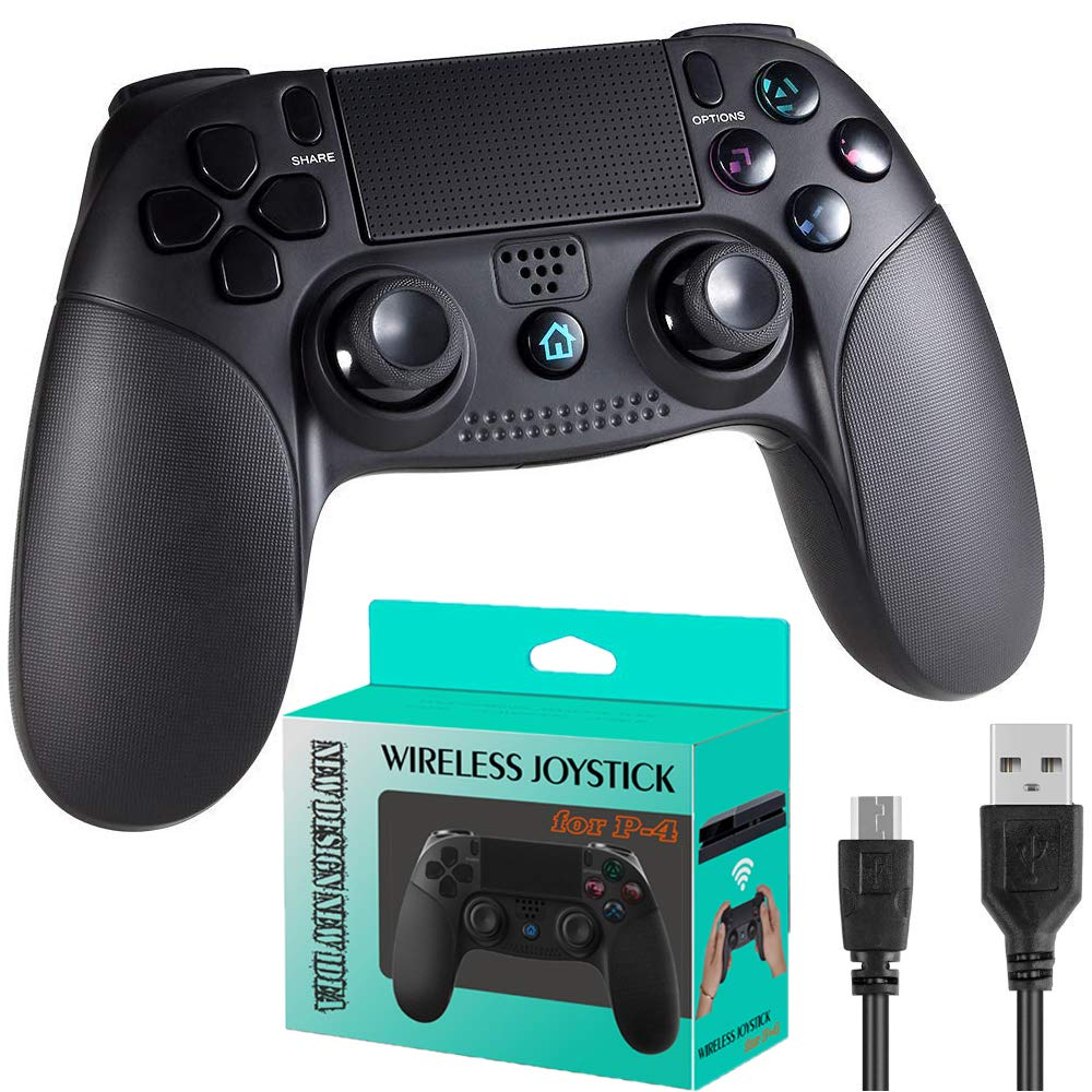 PS4 Controller for Playstation 4, PS4 Wireless Gamepad with 3.5mm Earphone Jack, Touch Panel Joypad with Dual Vibration For PS4 Console