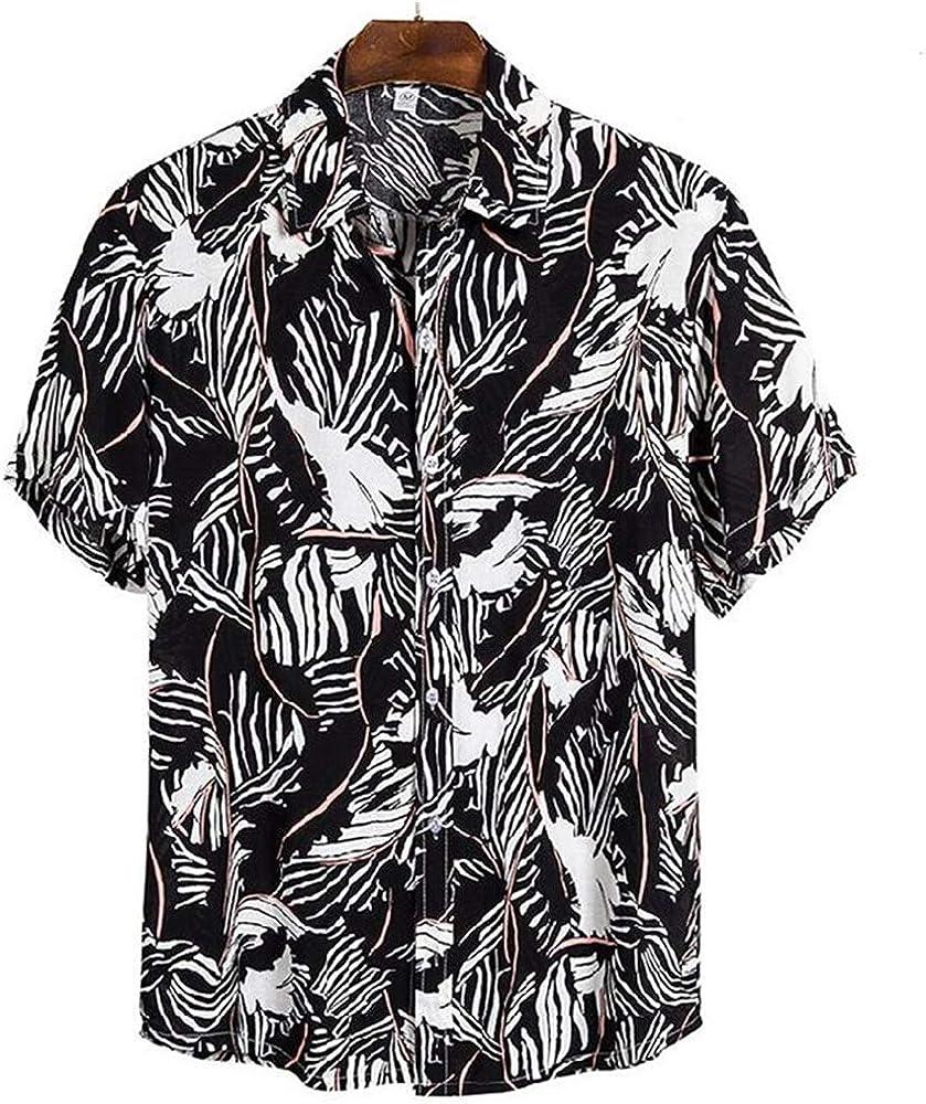 Verano De Los Hombres De ImpresióN Digital De Playa Suelta Vacaciones De Ocio De Ocio Camisa De Manga Corta Camisa De Playa: Amazon.es: Ropa y accesorios