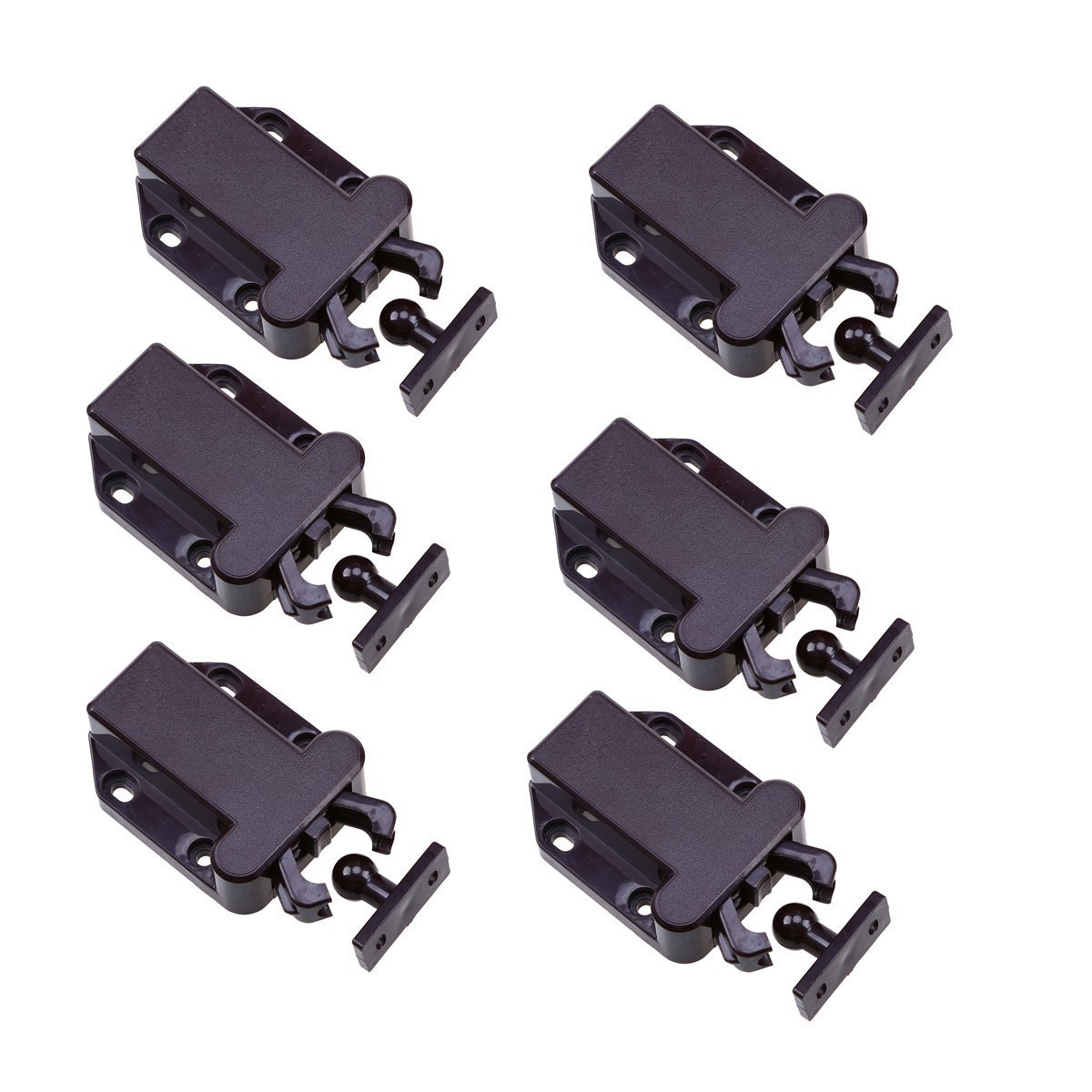 goodchanceuk 6Sets Push to Catch Schloss ö ffnen Schublade Schrank Cabinet Catch Touch Latch Schlafzimmer SZETOSY