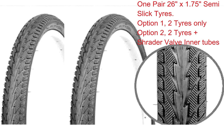 "26 X 1.75/"" Bike TIRE SLICK Street Road Tread Directional buy 2 get FREE TUBES!!"