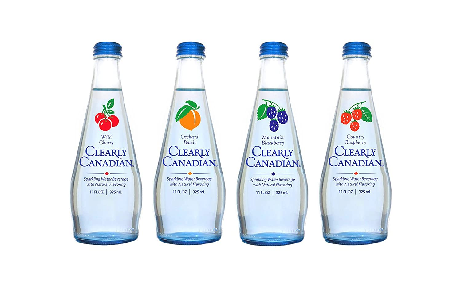 Clearly Canadian Sparkling Flavored Water (4 Flavor Sampler, 4 Pack Sampler)