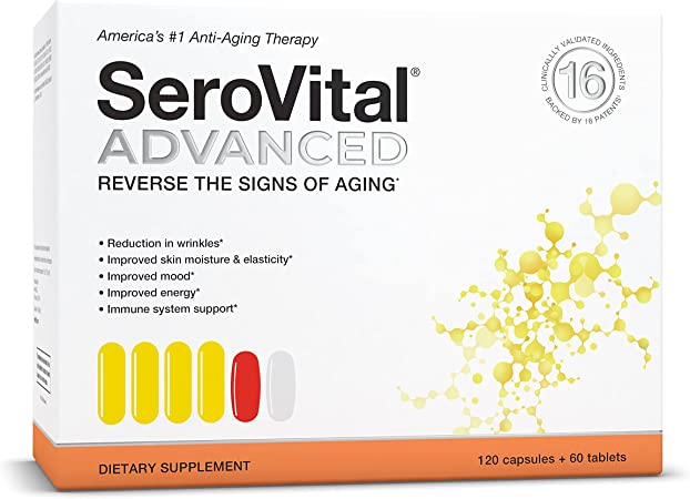SeroVital Advanced for Women - Anti Aging Supplements - Renewal Supplements for Women - Supplement for Skin - Immunity Support - HGH Boosting Dietary Supplement for Women