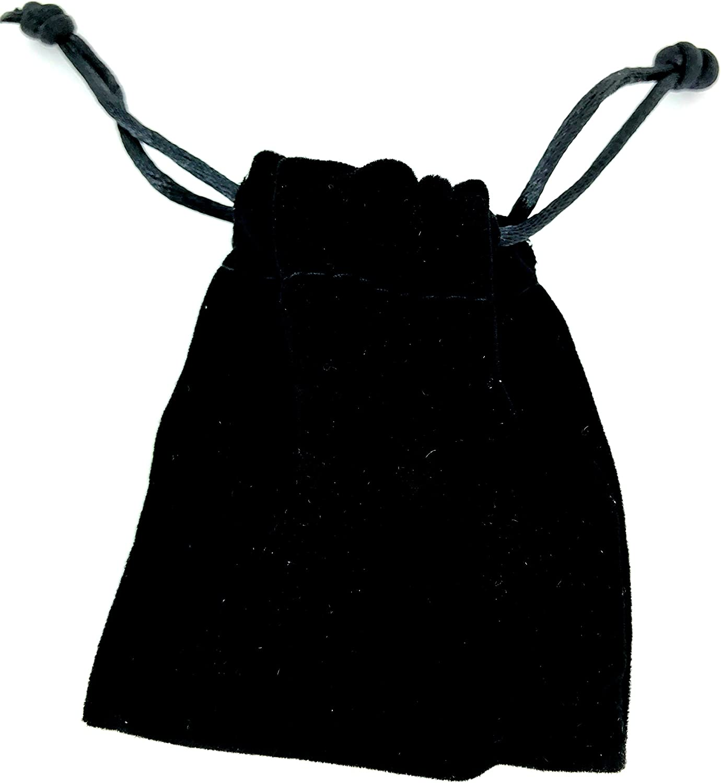 Uniklook New 10 pcs Handmade Black Velvet 3 x 2.3//8 Drawstring Jewelry Pouches Bag Gift