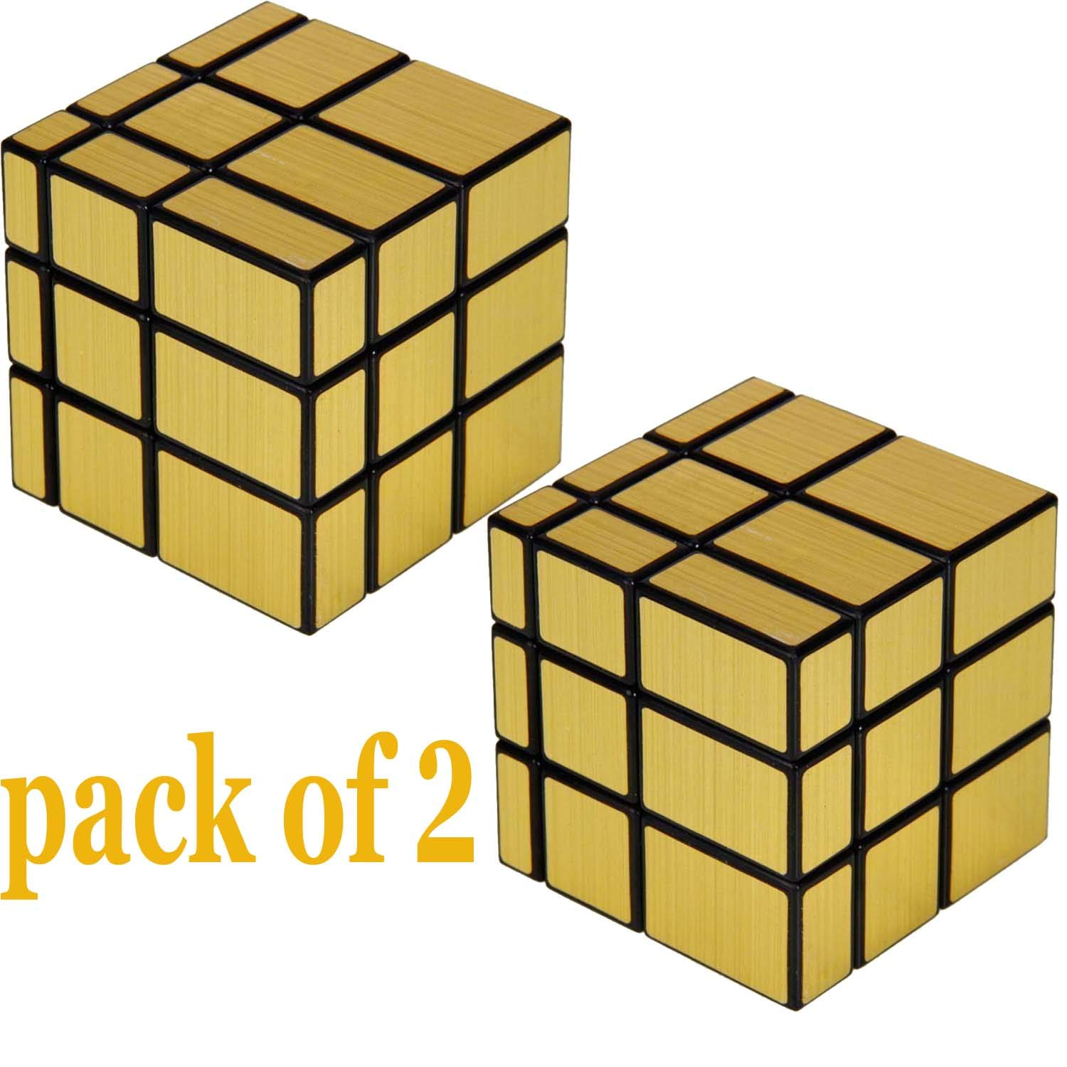 Buy Sharabani Mirror Cube 3x3 Cube High Speed Gold Mirror Magic Cube 3x3 Mirror Cube Brainstorming Puzzle Game Toy Pack Of 2 Online At Low Prices In India Amazon In
