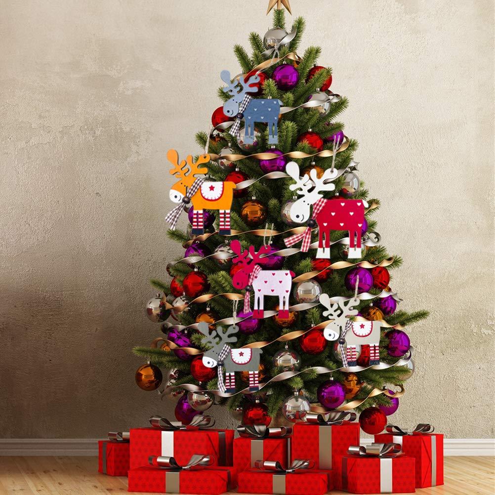SUPVOX 40 PCS Filz Weihnachten Schneeflocken Weihnachten h/ängen Schneeflocken Weihnachtsbaum Anh/änger