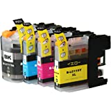 互換 インクカートリッジ LC117/115-4PK 大容量  ( LC117BK LC115C LC115M LC115Y ) 【 ICチップ付 4色パック 】ブラザー用