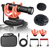Universal Video Microphone with Shock Mount,Windscreen,3m Extension Cable for iPhone, Android Smartphones, Canon EOS, Nikon D