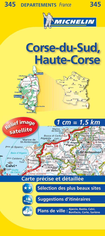 Corse Du Sud Haute Corse Road Map 345 Michelin 1150 000